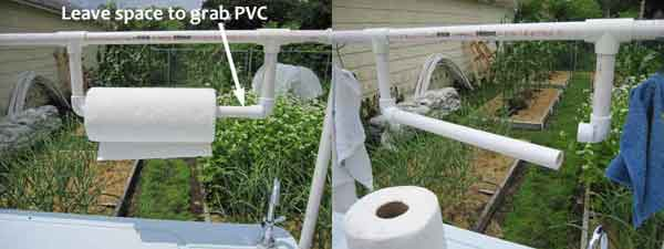 pvc paper towel holder