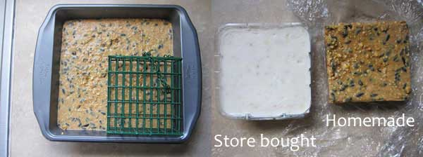 homemade vs store-bought suet cakes