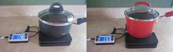 Rachael Ray vs Bialetti saucepan weight