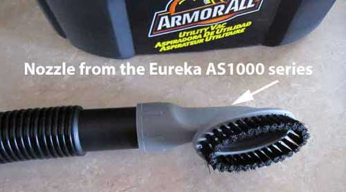 Eureka nozzle on ArmorAll car vacuum