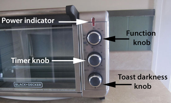 Black and Decker air fryer-toaster oven functions