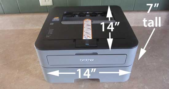 Brother 2300D laser printer dimensions
