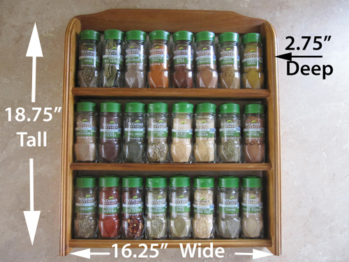 McCormick spice rack dimensions
